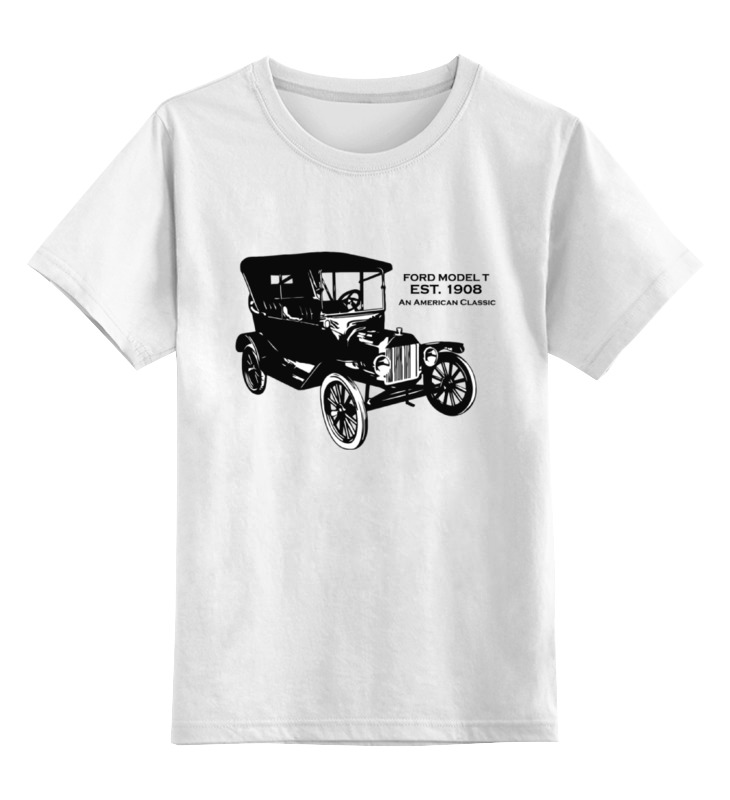 все цены на Детская футболка классическая унисекс Printio Форд модель т 1908