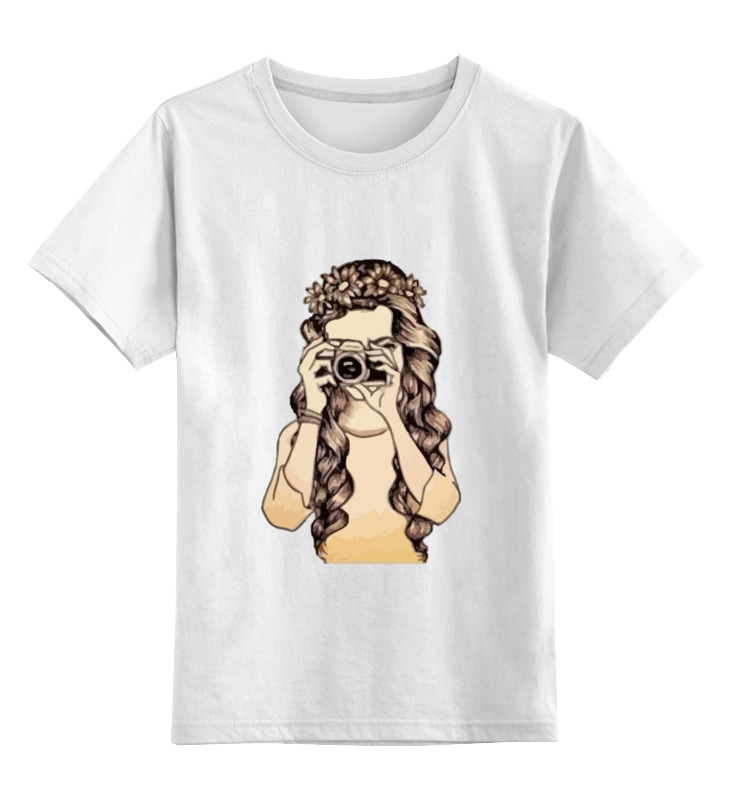 Детская футболка классическая унисекс Printio Девушка с камерой футболка классическая printio девушка с камерой