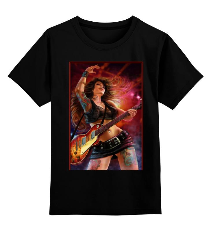 Детская футболка классическая унисекс Printio Rock girl футболка классическая printio rock girl