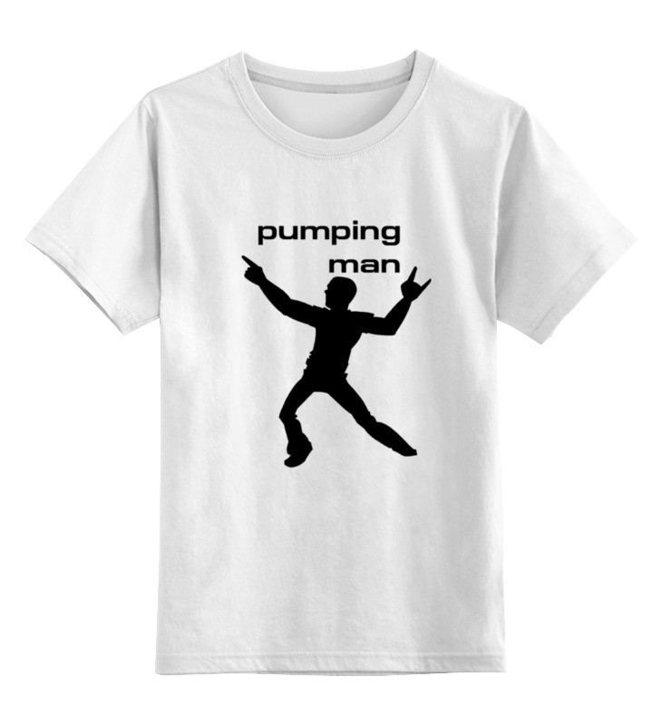 цена на Детская футболка классическая унисекс Printio Pumping man #1