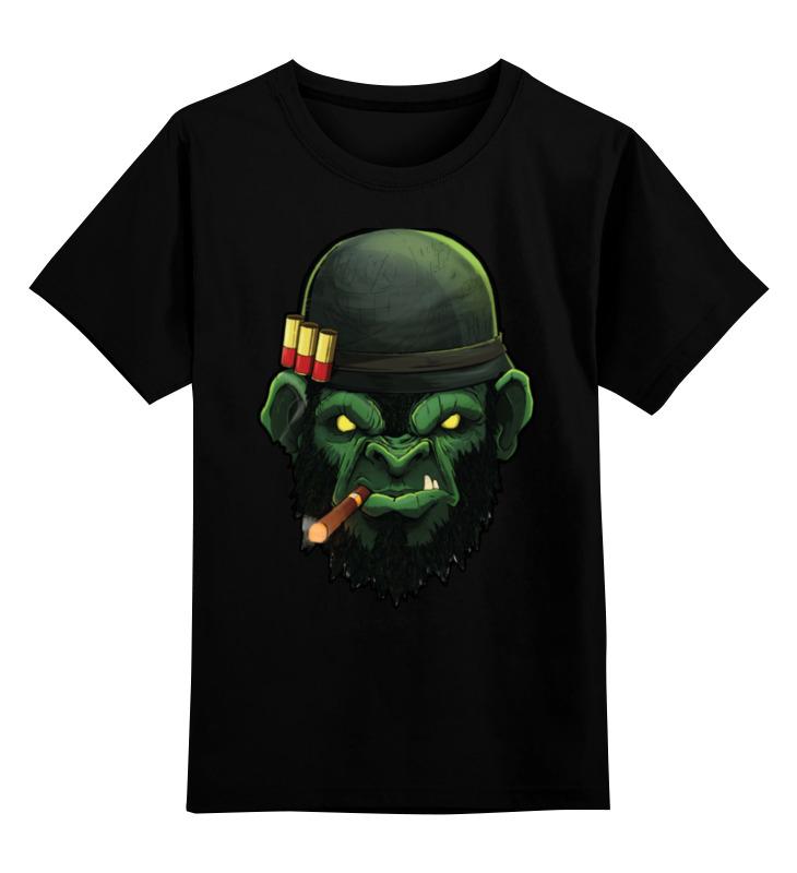 Детская футболка классическая унисекс Printio War monkey/обезьяна детская футболка классическая унисекс printio monkey