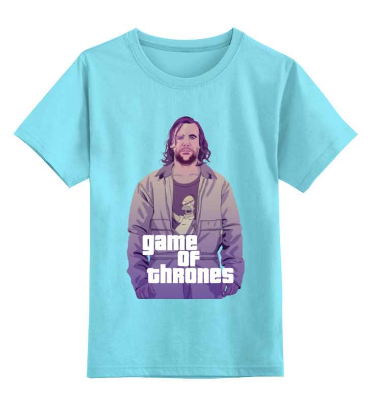 Детская футболка классическая унисекс Printio Gta game of thrones футболка классическая printio gta 5 dog
