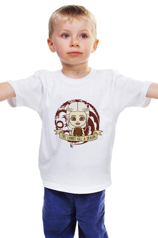Детская футболка классическая унисекс Printio Огонь не убивает дракона детская футболка классическая унисекс printio мачете убивает