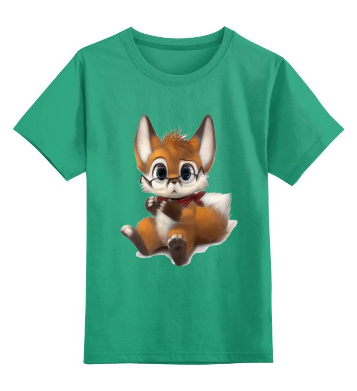 Детская футболка классическая унисекс Printio Умный лисёнок цена