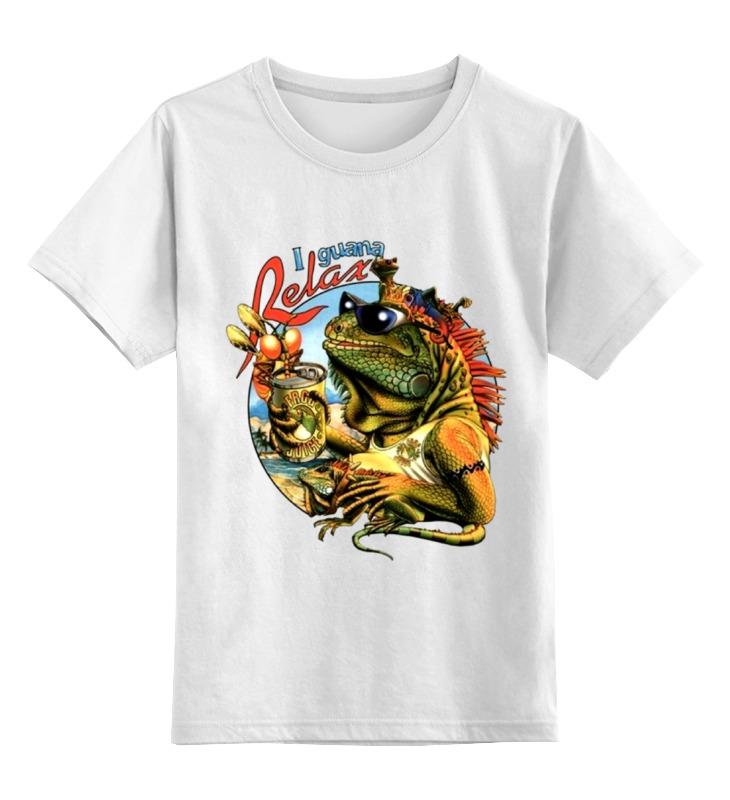 Детская футболка классическая унисекс Printio Игуана