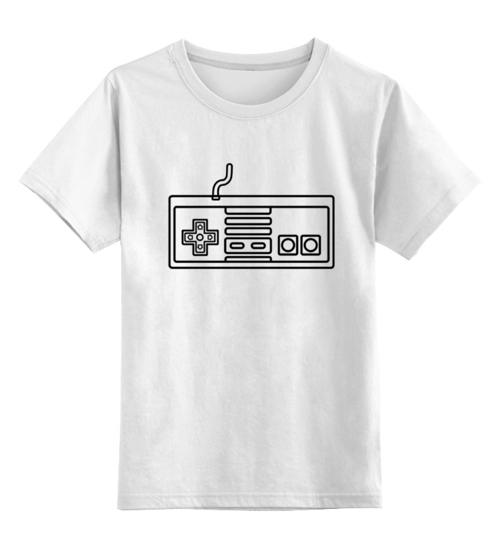 Детская футболка классическая унисекс Printio Джойстик 8 бит цена 2017