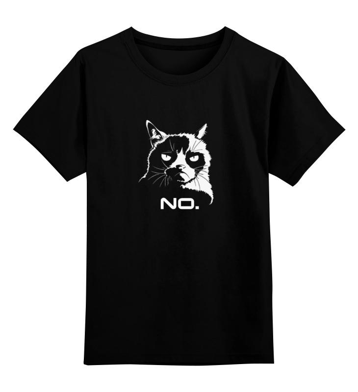 Детская футболка классическая унисекс Printio Сердитый котик / grumpy cat (no.)