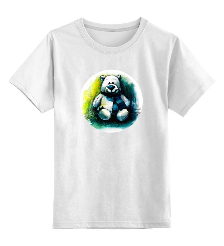 Детская футболка классическая унисекс Printio Медведь плюшевый