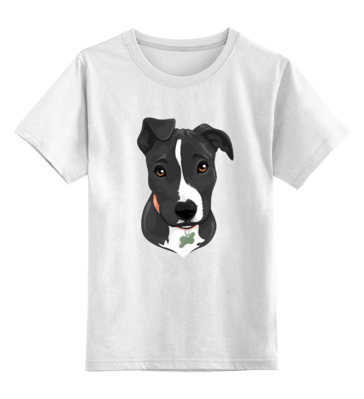 Детская футболка классическая унисекс Printio Песик вышивка бисером открытка 4 песик