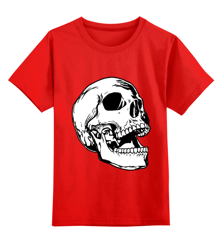 Детская футболка классическая унисекс Printio Белый череп smoby детская горка king size цвет красный