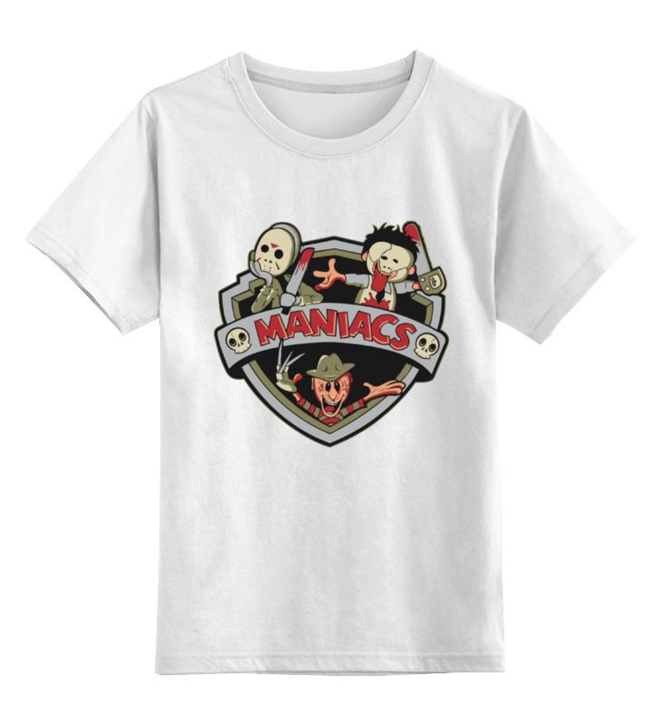 Детская футболка классическая унисекс Printio Maniacs (маньяки) майка классическая printio maniacs маньяки
