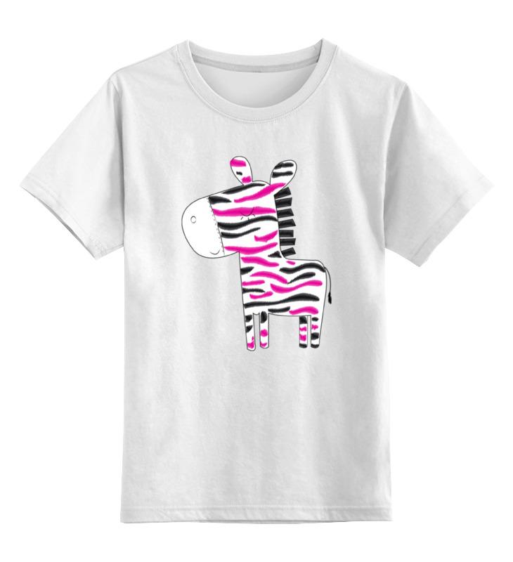Детская футболка классическая унисекс Printio Зебра