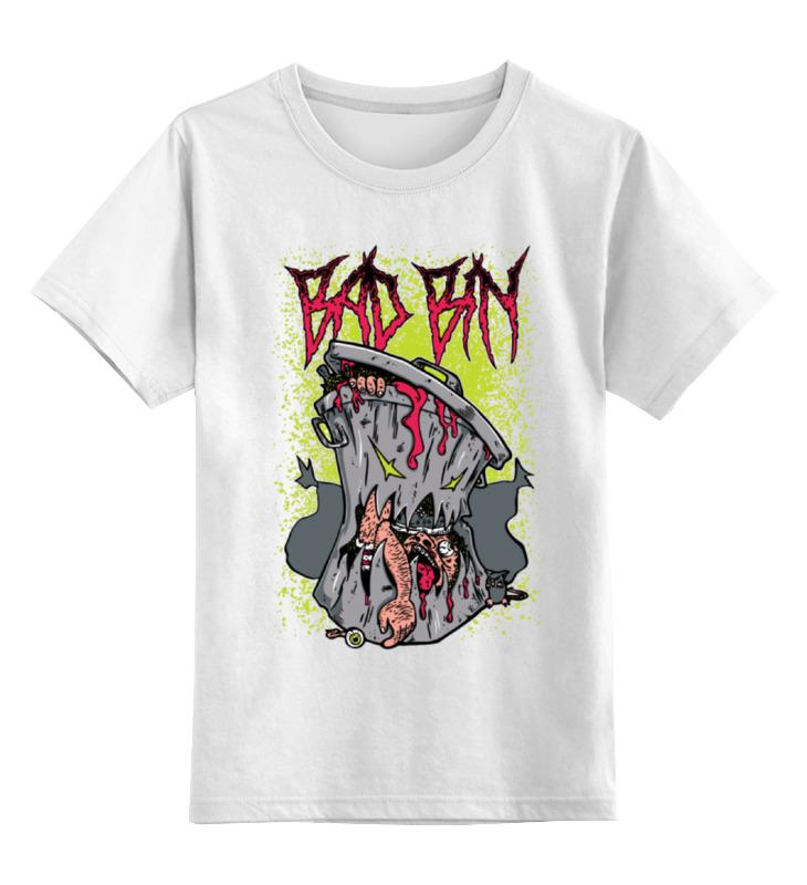 Детская футболка классическая унисекс Printio Bad bin коллаж platinum family цвет белый 8 фоторамок bin 1123361