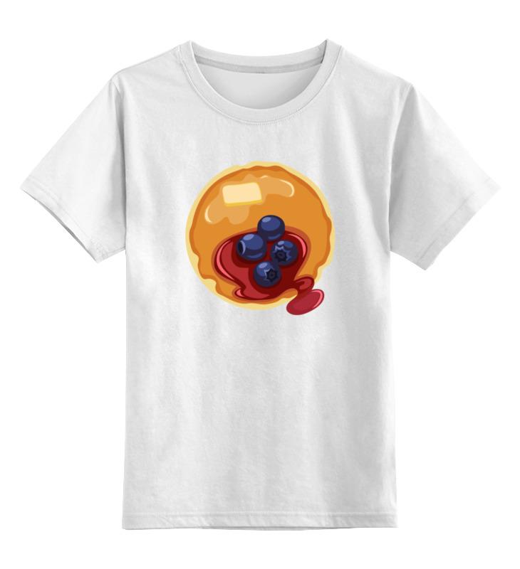 Детская футболка классическая унисекс Printio Блинчики с джемом блины и блинчики