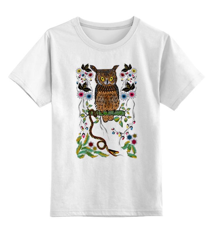 Детская футболка классическая унисекс Printio Сова и змея цена и фото