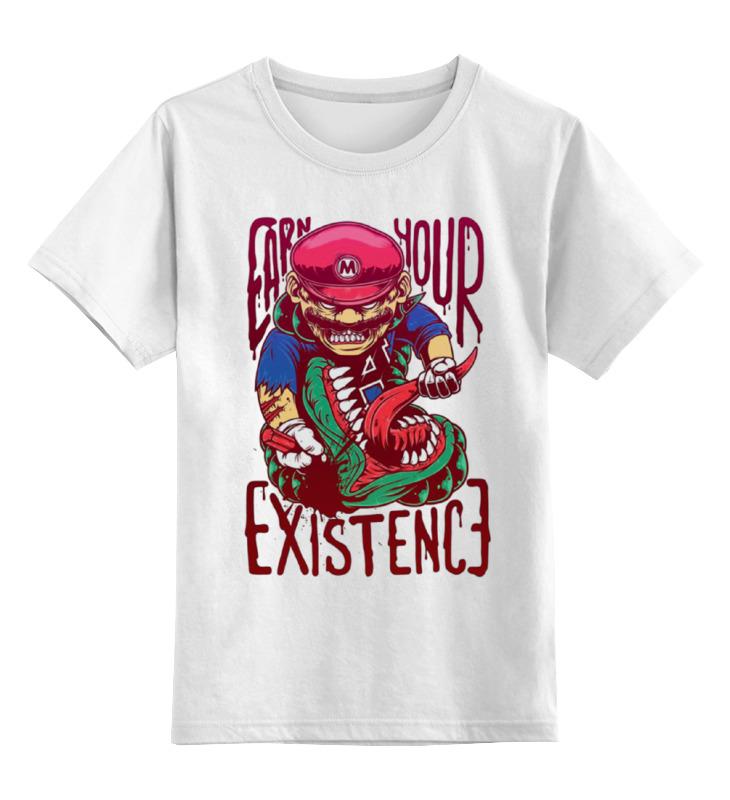 Детская футболка классическая унисекс Printio Злой марио детская футболка классическая унисекс printio слоник