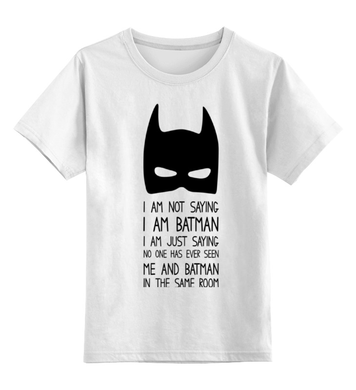 Детская футболка классическая унисекс Printio Бэтмен майка классическая printio война никогда не меняется
