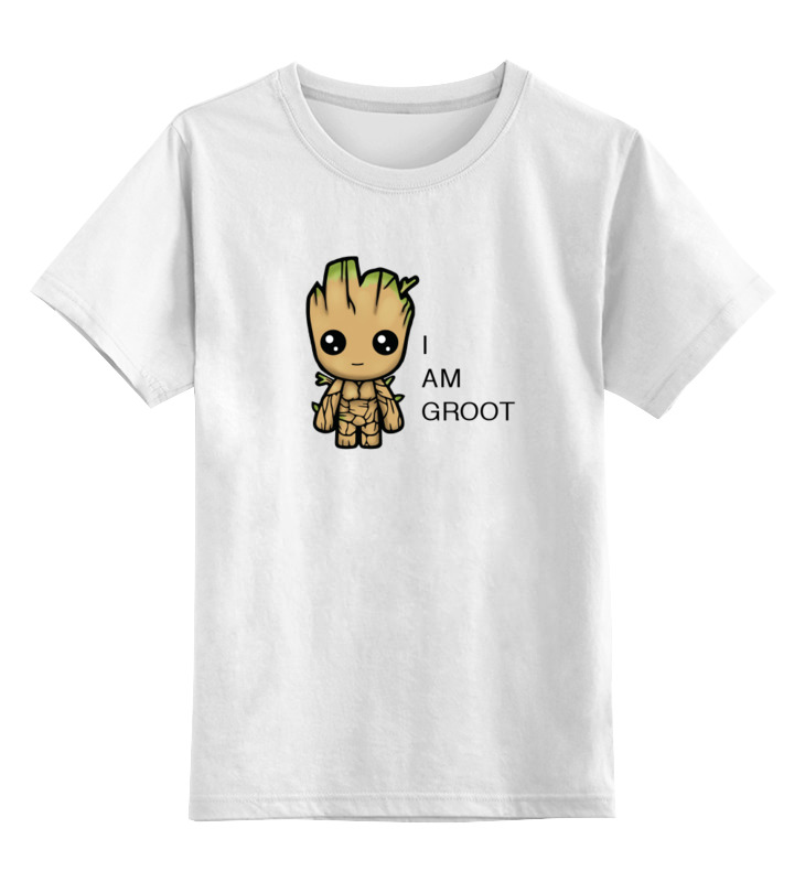 Детская футболка классическая унисекс Printio Groot лонгслив printio rocket raccoon and groot