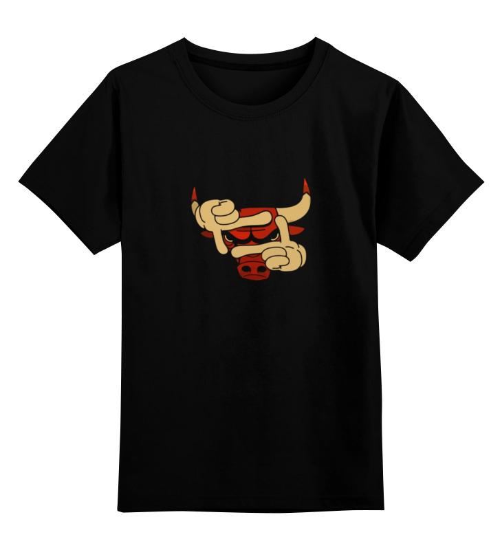 где купить Детская футболка классическая унисекс Printio Бык эмблема по лучшей цене