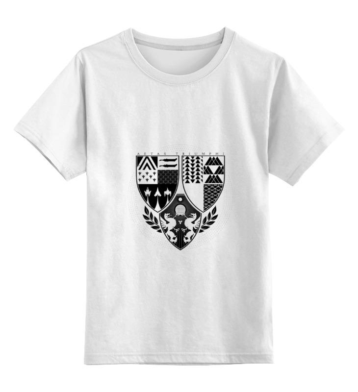 Детская футболка классическая унисекс Printio Age of triumph (white) футболка для беременных printio age of triumph white