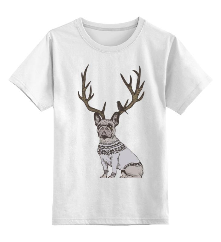 Детская футболка классическая унисекс Printio Французский олень детская футболка классическая унисекс printio олень
