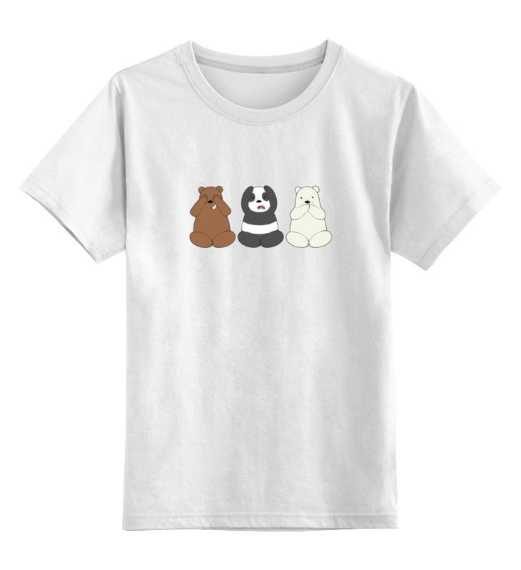 Детская футболка классическая унисекс Printio Медведи и панда детская футболка классическая унисекс printio король панда