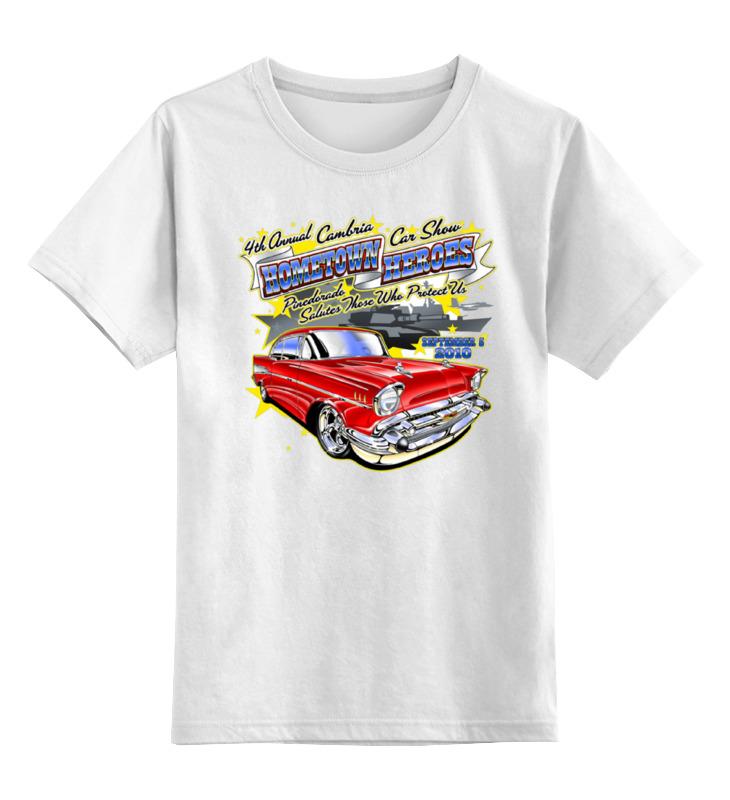 Детская футболка классическая унисекс Printio Retro car maisto bburago 1 18 fiat 500l retro classic car diecast model car toy new in box free shipping 12035