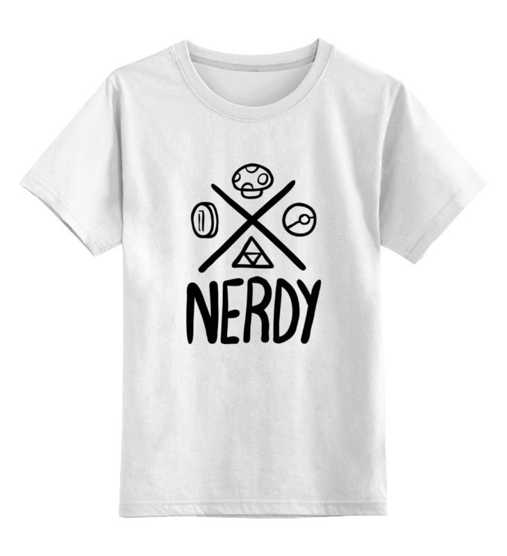Детская футболка классическая унисекс Printio Nerdy sbart upf50 rashguard 2 bodyboard 1006