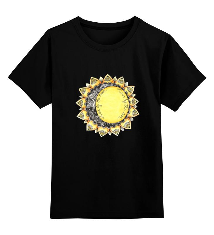 Детская футболка классическая унисекс Printio Love by the moon. live by the sun. футболка классическая printio love by the moon live by the sun