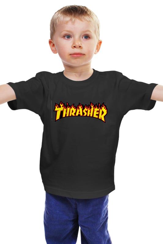 Детская футболка классическая унисекс Printio Thrasher бейсболка obey posse snap crimson o s