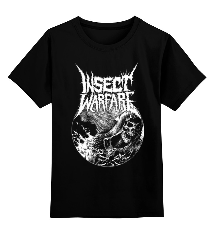 Детская футболка классическая унисекс Printio Insect warfare band