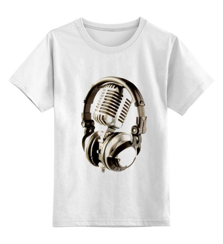 Детская футболка классическая унисекс Printio Микрофон & наушники сумка printio микрофон