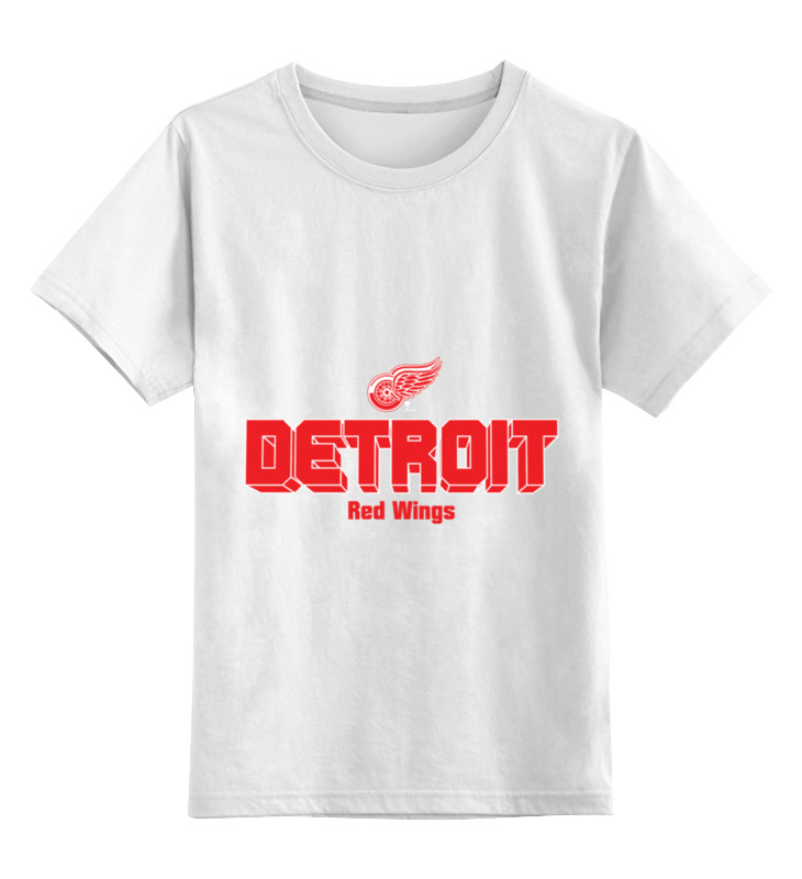 Детская футболка классическая унисекс Printio Detroit red wings цена и фото