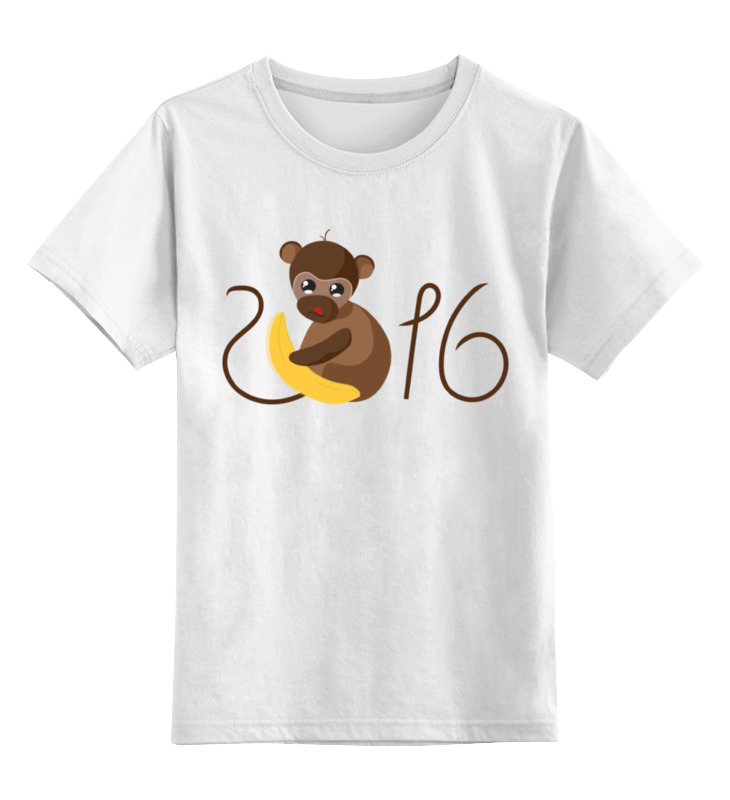 Детская футболка классическая унисекс Printio Обезьянка биззи 2016 цена и фото