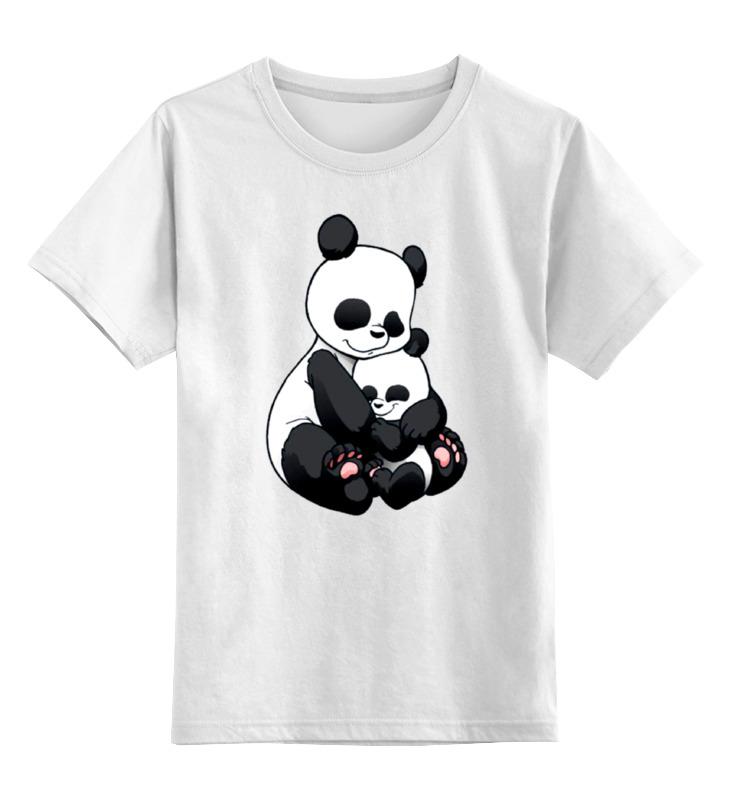 Детская футболка классическая унисекс Printio Панда с малышом детская футболка классическая унисекс printio король панда