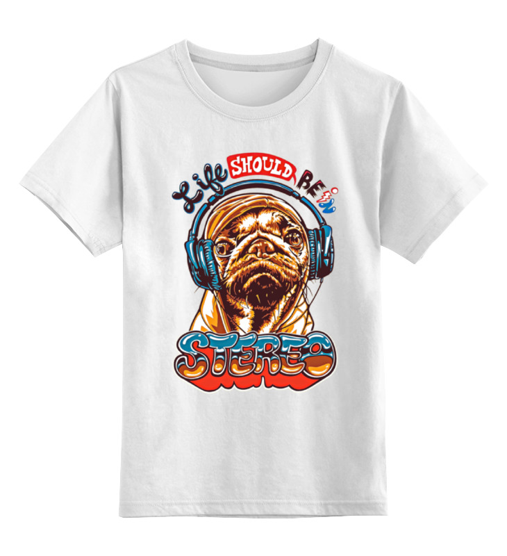 Детская футболка классическая унисекс Printio Пёс меломан детская футболка классическая унисекс printio меломан