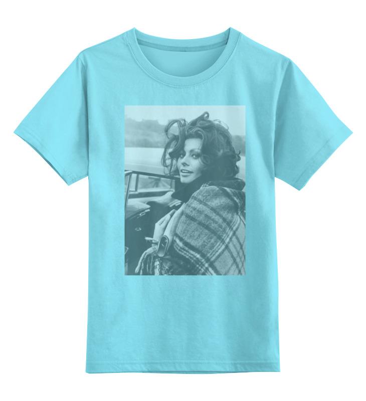 Детская футболка классическая унисекс Printio Софи лорен софи лорен книга женщина и красота