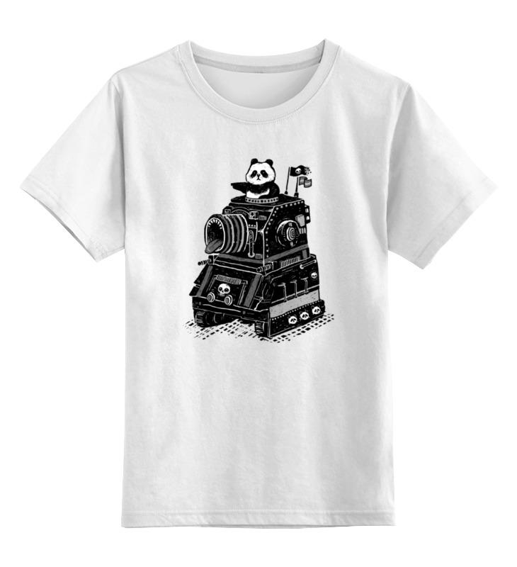 Детская футболка классическая унисекс Printio Панда в танке детская футболка классическая унисекс printio красная панда