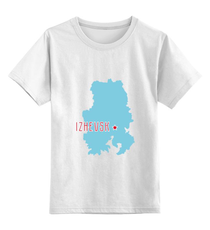 Детская футболка классическая унисекс Printio Республика удмуртия. ижевск