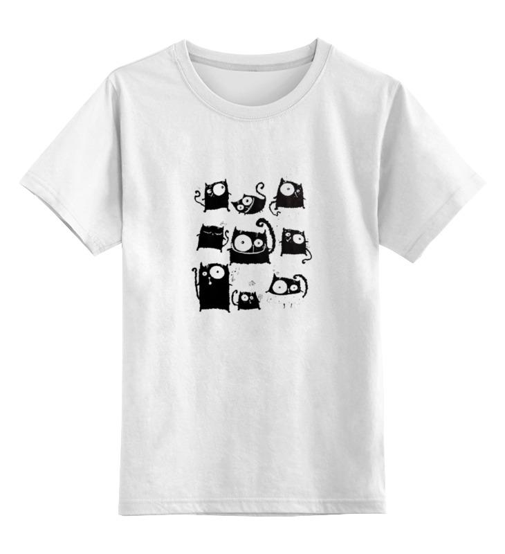 Детская футболка классическая унисекс Printio Кошки 5 детская футболка классическая унисекс printio html 5