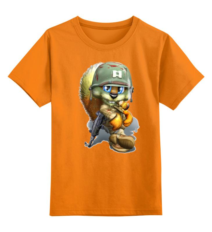 Детская футболка классическая унисекс Printio Лисенок солдат цена и фото