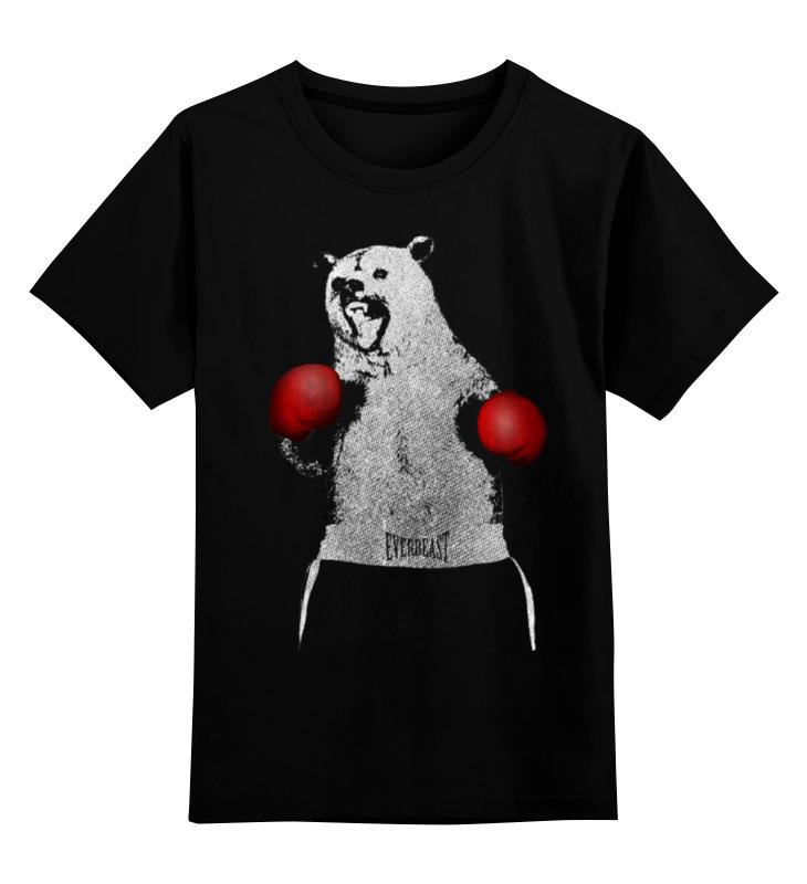 Детская футболка классическая унисекс Printio Медведь боксер детская футболка классическая унисекс printio панда боксер