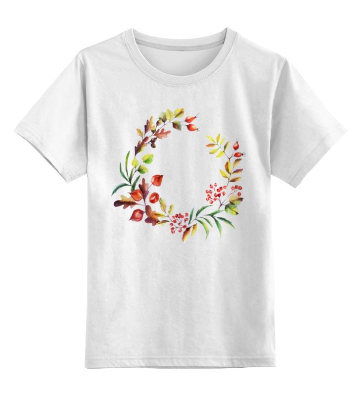 Детская футболка классическая унисекс Printio Венок осенний