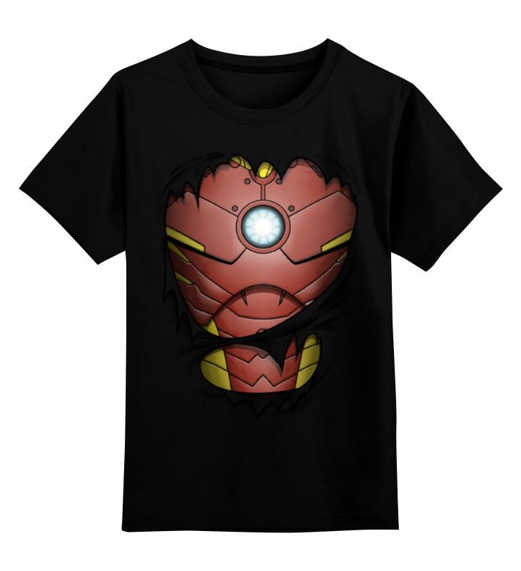 Детская футболка классическая унисекс Printio Железный человек женские часы guess w0507l2 ucenka