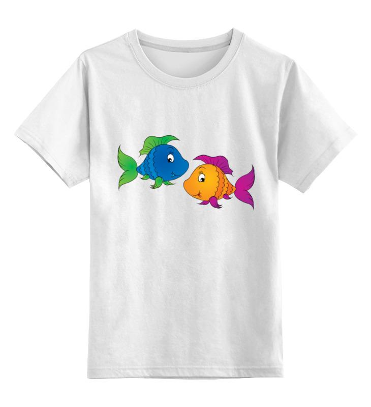 Детская футболка классическая унисекс Printio Весёлые рыбки sharp ar 270lt