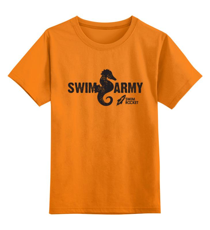 Детская футболка классическая унисекс Printio Swim army moschino swim футболка
