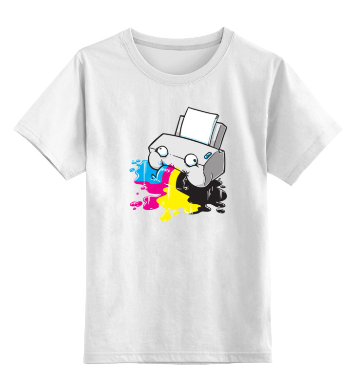 Детская футболка классическая унисекс Printio Принтер цена