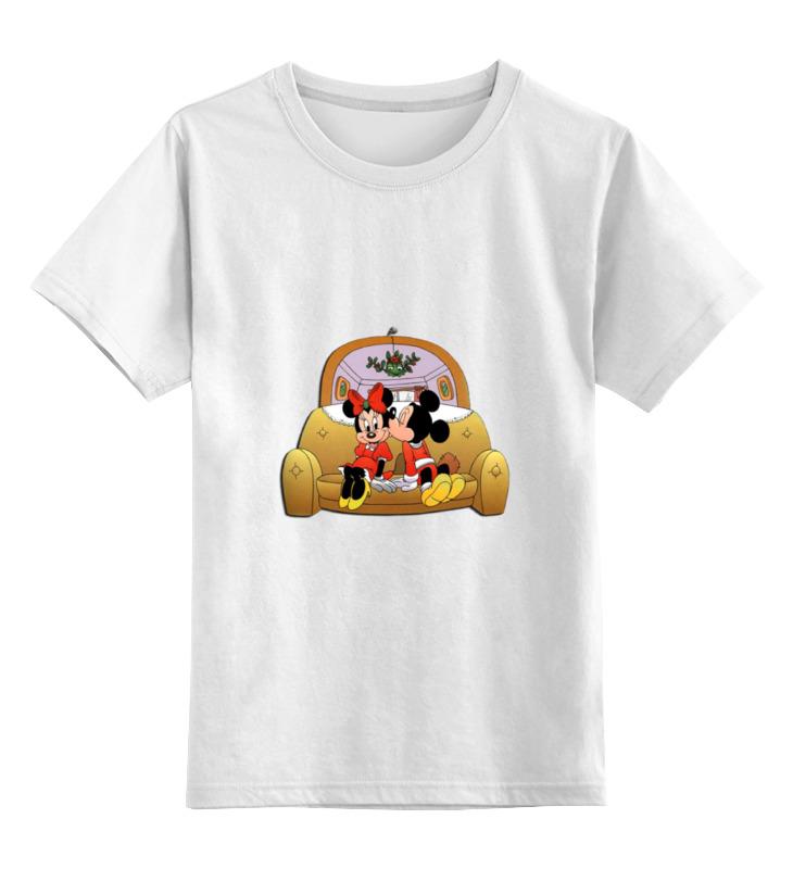 Детская футболка классическая унисекс Printio Микки семья автомобильное зарядное устройство qumo auto energy 2a 2 usb 1a 1a кабель apple 8 pin