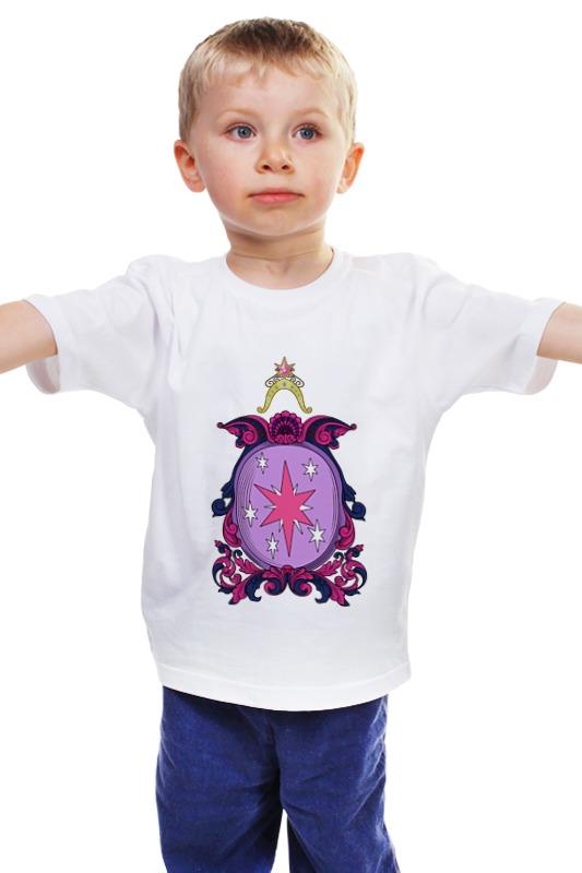 Детская футболка классическая унисекс Printio My little pony - герб twilight sparkle (искорка) my little pony party of one