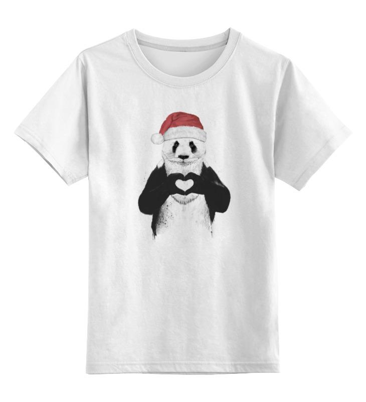 Детская футболка классическая унисекс Printio Санта панда детская футболка классическая унисекс printio король панда
